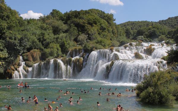 Dovolenka na Jadrane - Vodopády rieky Krka